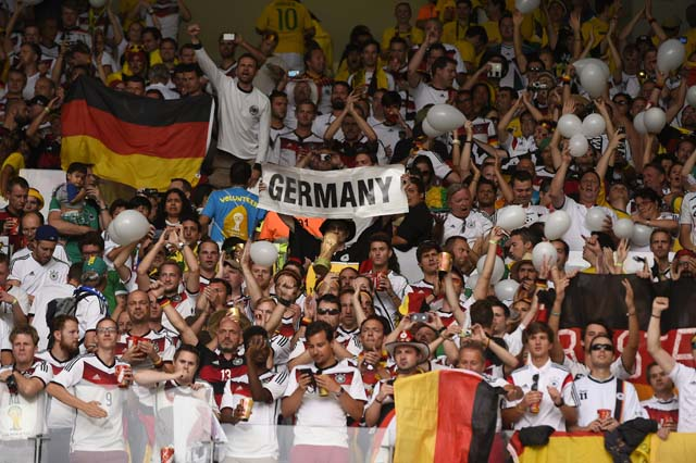 Germany Fans World Cup Semifinal Belo Horizonte