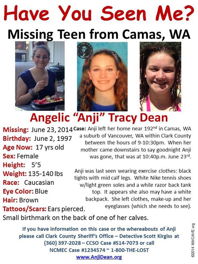 Angelic Dean washington sex trafficking, missing washington girl