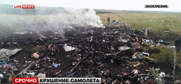 An image reported by Life News shows sickening images of the wreck.   (Screen Shot/LifeNews)
