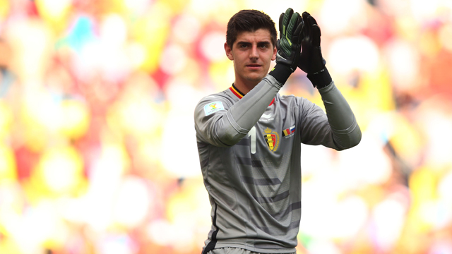 Thibault Courtois, Belgium, soccer, sports, goalie, field, World Cup, soccer, football, USA, Chelsea, future in doubt, Belgian, national, goal, loss, Brazil, World Cup 2014, advance, win, feud with Mignolet, best goalie in world