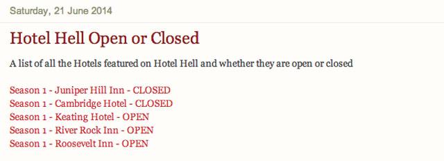 Hotel Hell Blog