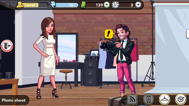 Kim Kardashian Hollywood Game photoshoot