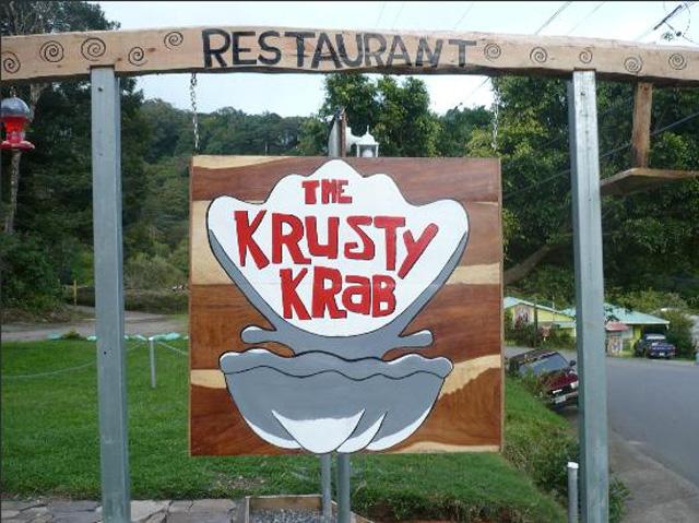 the krusty krab, costa rica, santa elena, spongebob squarepants