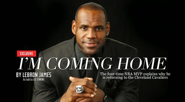 LeBron James, LeBron James coming home, LeBron James Sports Illustrated