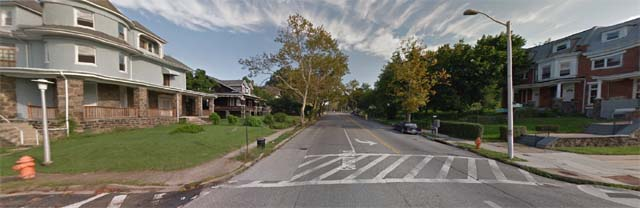 A street view of the corner of Piedmont  Ave and Garrison Blvd, near where Henderson was found. (Google Maps)