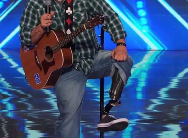 Sal Gonzalez, sal gonzales prosthetic leg, sal gonzalez agt