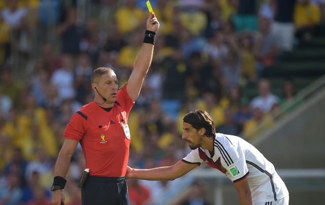 Sami Khedira Yellow Card