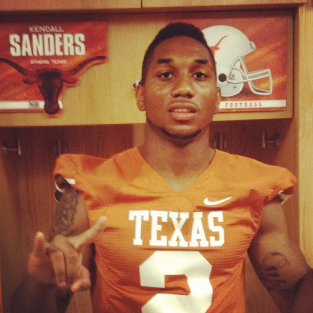 University of Texas Football Player Kendall Sanders charged with assault