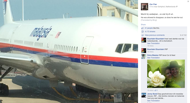 Cor Pan Facebook Post Malaysia Airlines