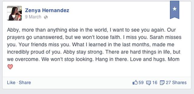 Zenya Hernandez Facebook