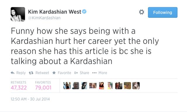 Kim Kardashian Twitter Adrienne Bailian
