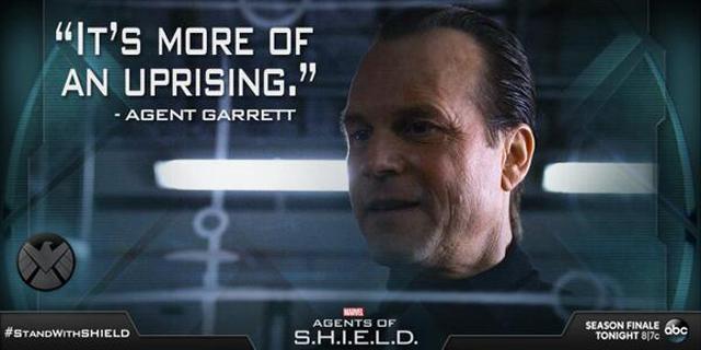 agent garrett, agents of shield, abc, marvel tv, bill paxton