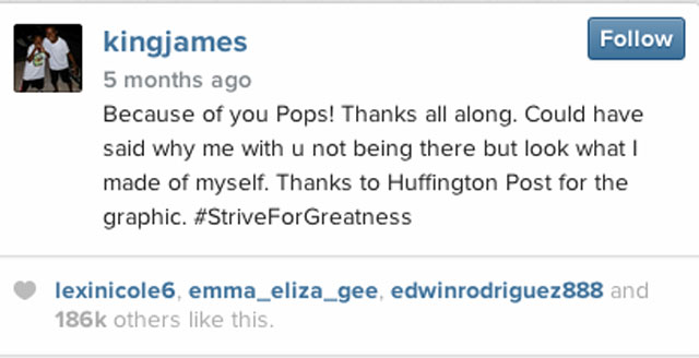 lebron james father instagram, lebron james open letter