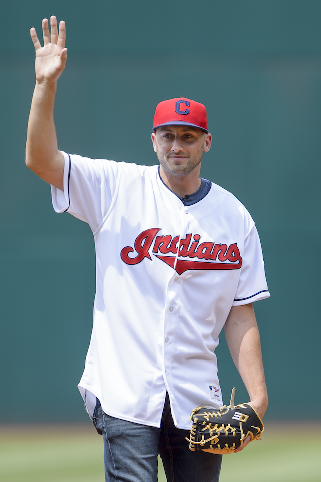 Brian Hoyer first pitch, Brian Hoyer Indians