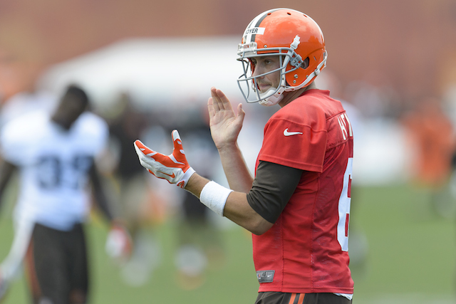 Hoyer in Browns camp July 13. (Getty)