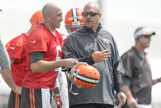 Brian Hoyer, Mike Pettine, Brian Hoyer and Mike Pettine