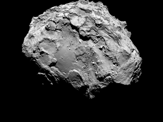rosetta satellite comet close up