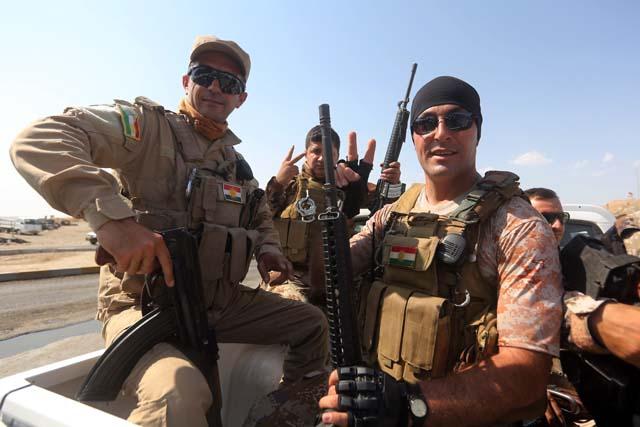 Kurdish peshmerga fighters ISIS