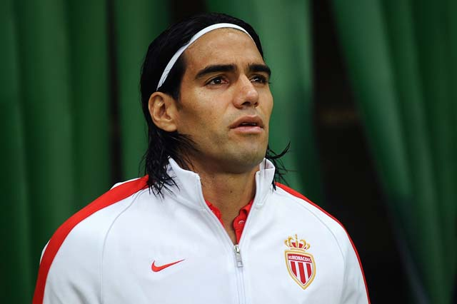 Falcao in Real Madrid Jersey