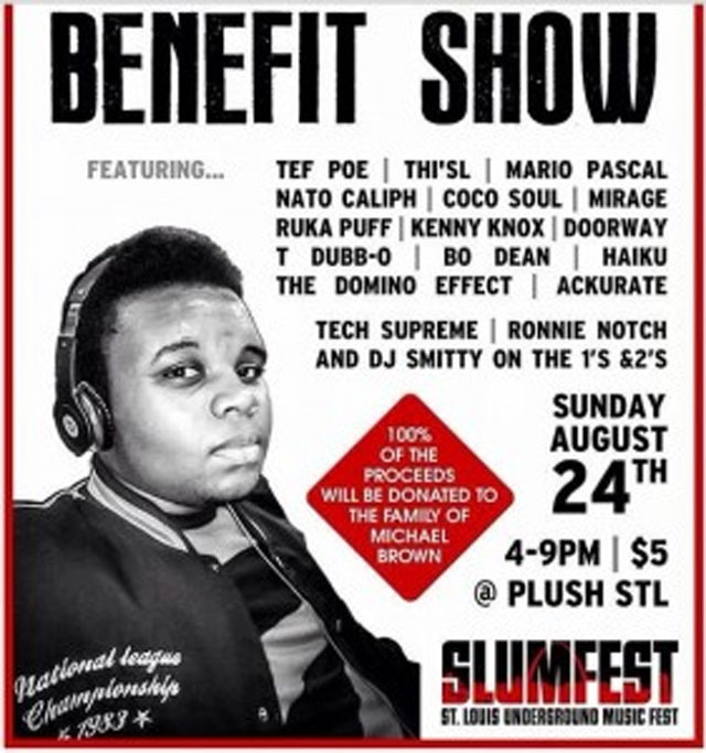 Michael Brown benefit show