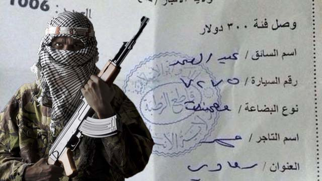 isis, isil, islamic state, tax, taxes, receipt, twitter, photo