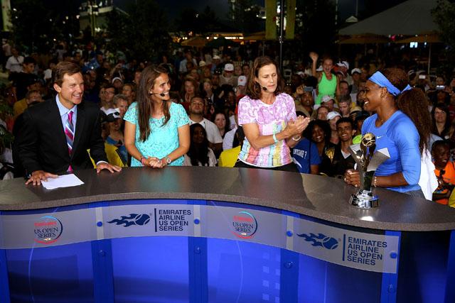 ESPN, U.S. Open, Sam Gore, Mary Joe Fernandez, Pam Shriver, Serena Williams