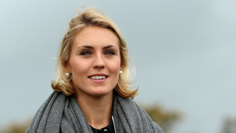 Katharina Boehm watched her boyfriend, Sergio Garcia, compete in the Ryder Cup 2014. (Getty) Katharina Boehm: 5 Fast Facts You Need to Know