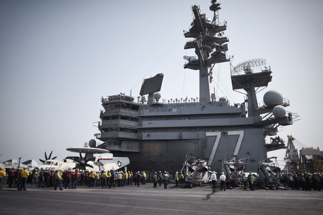 Iraq, USS George H.W. Bush