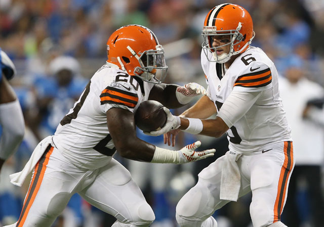 Brian Hoyer, Terrance West, Cleveland Browns vs. Detroit Lions