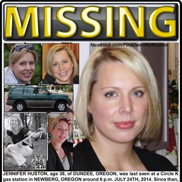 Jennifer Huston dead RIP missing oregon mom SUV