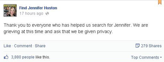 Jennifer Huston Dead RIP missing oregon mother