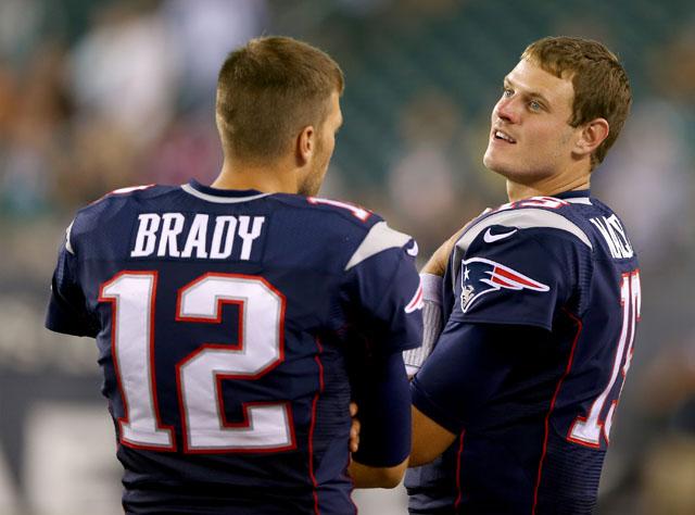 Ryan Mallett and Tom Brady