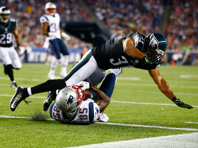 Kembrell Thompkins, Curtis March, Eagles vs. Patriots