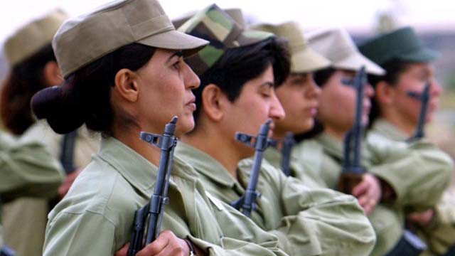 kurdish female soldiers, ppk