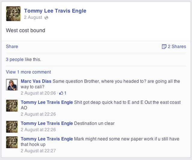 Tommy Lee Engle Facebook Page