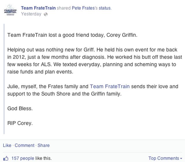 Peter Frates Facebook Corey Griffin