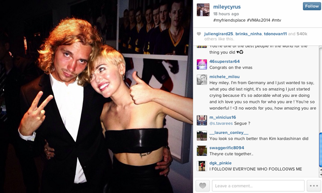 Is Miley dating homeless guy
