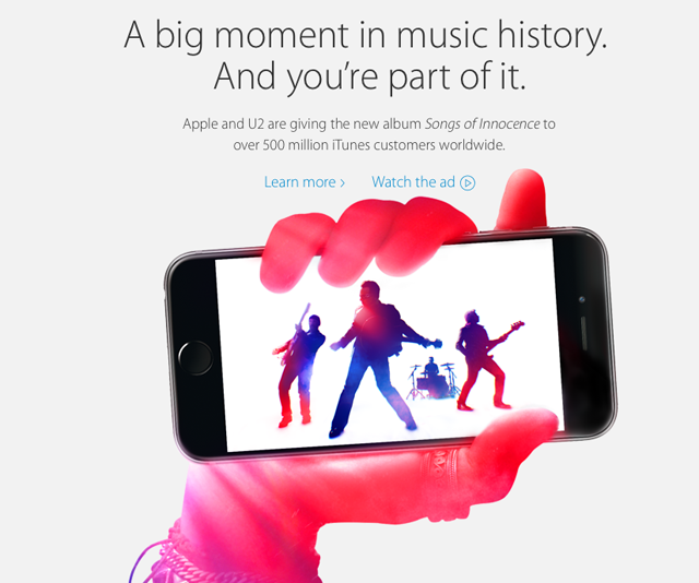 U2 Apple iTunes Songs of Innocence