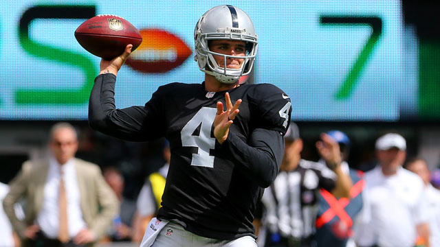 Derek Carr looks for his first win as an NFL starter across the pond in London.
