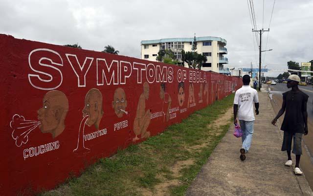 Ebola Symptoms Mural