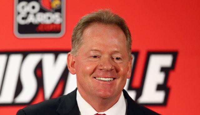Louisville football coach Bobby Petrino