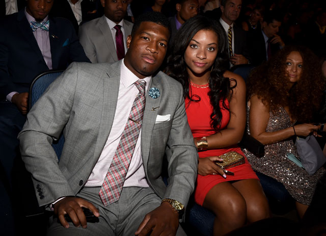 Jameis Winston and Breion Allen at the ESPYs on July 16, 2014. (Getty)