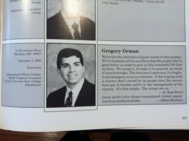 Greg Orman, Greg Orman college, Greg Orman Princeton