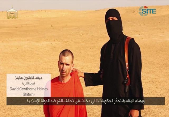 David Cawthorne Haines, steven sotloff beheading video
