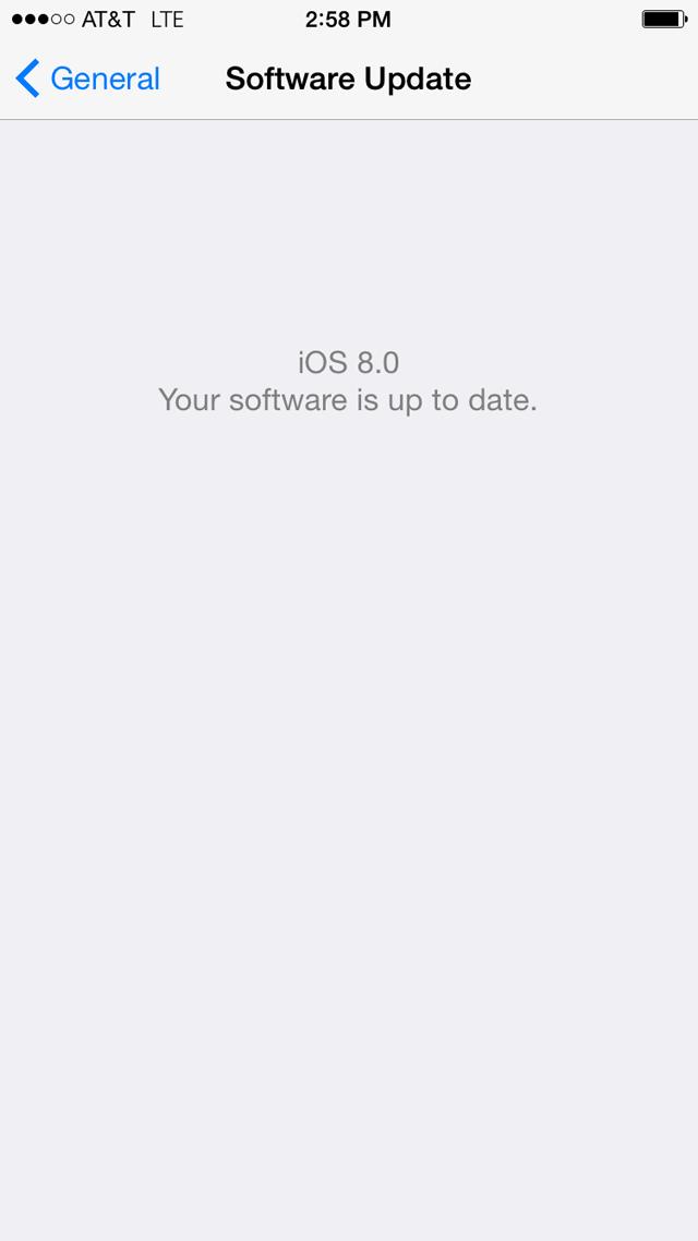 iPhone 6 iOS 8.0.1