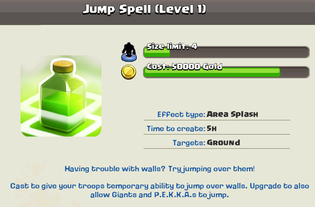 Clash of Clans Jump Spell