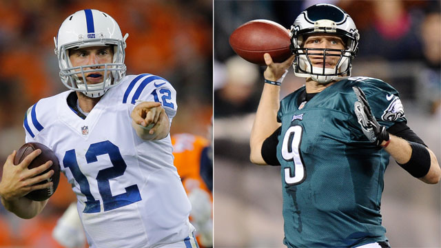 Nick Foles, Andrew Luck, Eagles vs. Colts