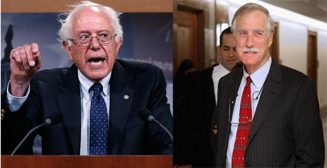 Bernie Sanders, Angus King