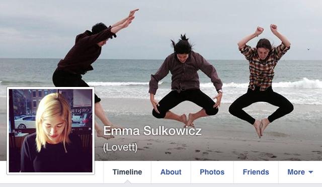 Emma Sulkowicz Facebook page