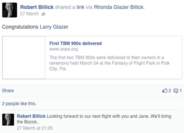Larry Glazer buys Plane
